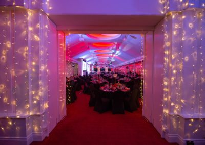 A celebration dinner at Ascot Racecourse